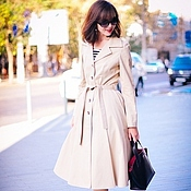 Одежда handmade. Livemaster - original item Women`s trench coat in a retro style. Handmade.