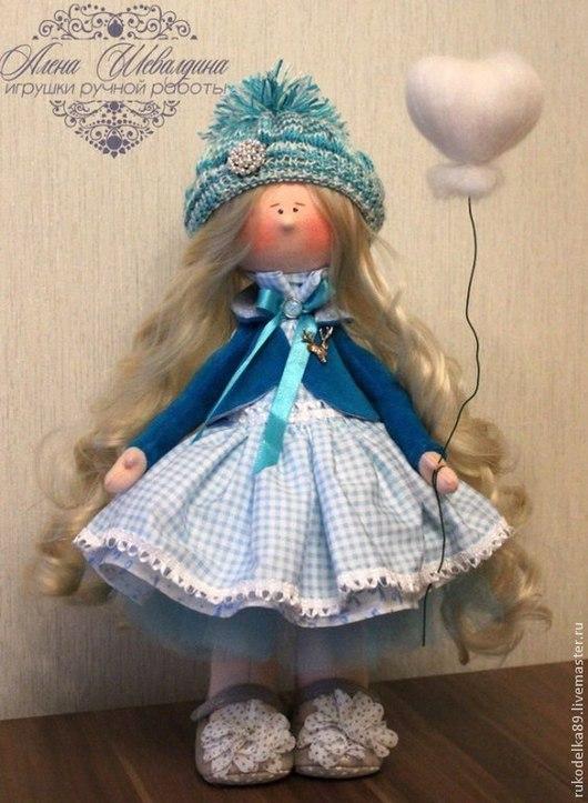 Человечки ручной работы. Ярмарка Мастеров - ручная работа. Купить Текстильная кукла. Handmade. Голубой, Новый Год, украшение, хлопок