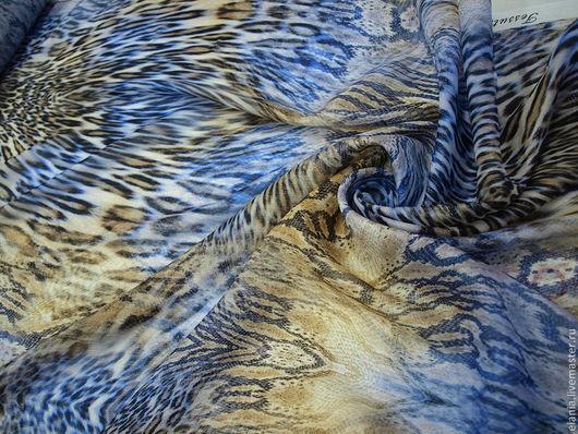 Шитье ручной работы. Ярмарка Мастеров - ручная работа. Купить Шифон Roberto Cavalli с метанитью. Handmade. Шелк, ткань для одежды