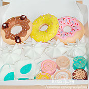 Doll food handmade. Livemaster - original item Food for dolls: a set of sweets made of felt. Handmade.