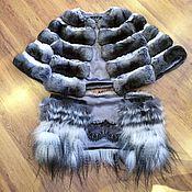 Одежда ручной работы. Ярмарка Мастеров - ручная работа Шуба из шиншиллы. Куртка. Жакет. Handmade.