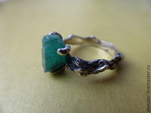 """Кольца ручной работы. Ярмарка Мастеров - ручная работа. Купить Кольцо """"Изумруд"""". Handmade. Комбинированный, подарок девушке"""