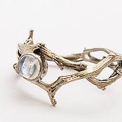 Украшения handmade. Livemaster - original item A ring of branches of moonstone. Handmade.