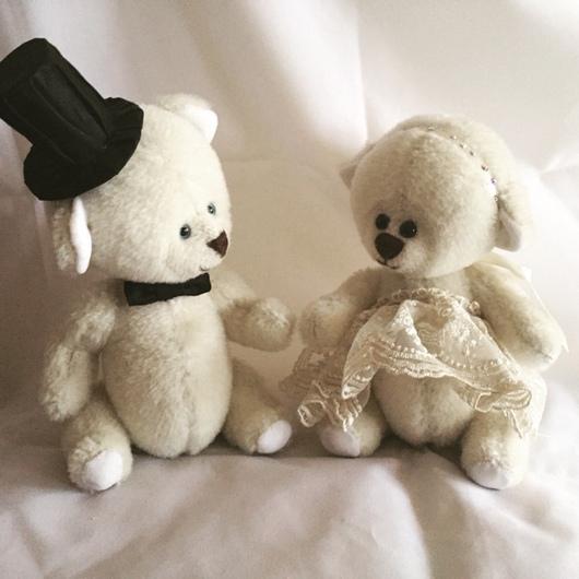 Мишки Тедди ручной работы. Ярмарка Мастеров - ручная работа. Купить Тедди медведи - Жених и невеста. Handmade. Белый, тедди