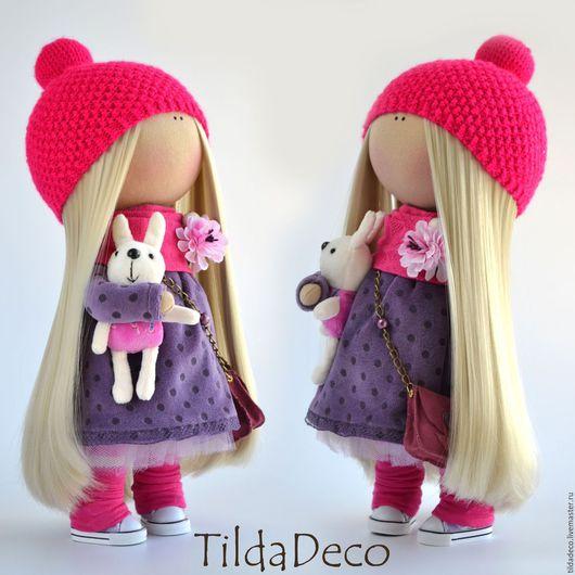 Коллекционные куклы ручной работы. Ярмарка Мастеров - ручная работа. Купить Интерьерная текстильная кукла-девочка Lily. Handmade. пуговицы