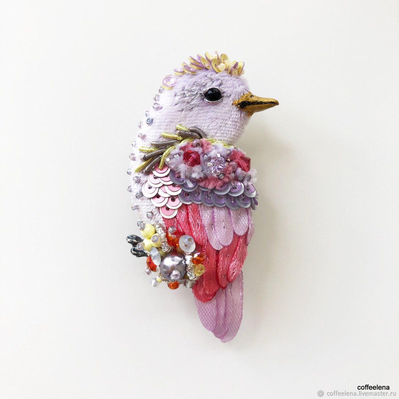 Brooch 'Bird Of The Maya». Silk brooch-bird, Brooches, Krasnodar,  Фото №1