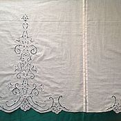Для дома и интерьера handmade. Livemaster - original item Curtains with a pattern from the log LE TENDE. Handmade.