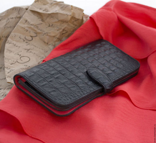 Кошельки и визитницы ручной работы. Ярмарка Мастеров - ручная работа. Купить Весенний кожаный кошелек с яркой цветной подкладкой. Handmade.