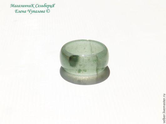 """Кольца ручной работы. Ярмарка Мастеров - ручная работа. Купить Кольцо из нефрита """"Светло-зеленый"""". Handmade. Мятный, кольцо из нефрита"""