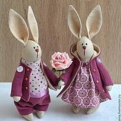 Куклы и игрушки ручной работы. Ярмарка Мастеров - ручная работа Парочк брусничных зайцев. Handmade.