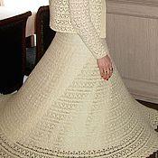 Одежда ручной работы. Ярмарка Мастеров - ручная работа Вязаное платье желтая лилия. Handmade.