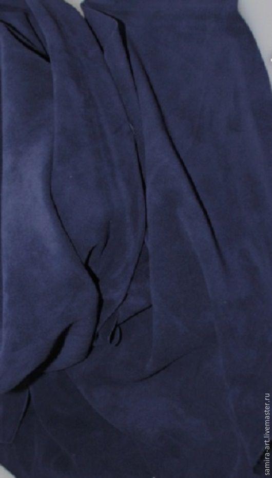 Шитье ручной работы. Ярмарка Мастеров - ручная работа. Купить Замша синяя натуральная. Handmade. Кожа, кожа натуральная, замша