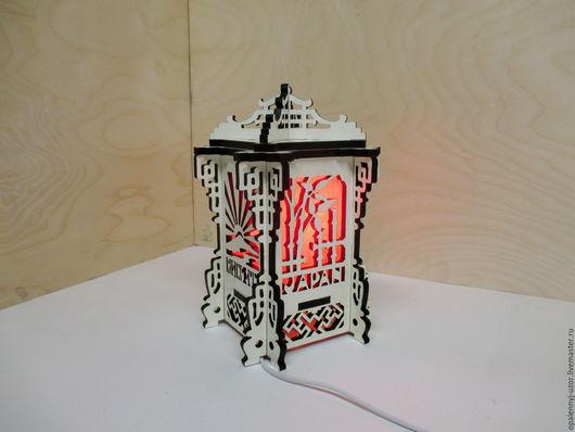 """Освещение ручной работы. Ярмарка Мастеров - ручная работа. Купить Ночник-Фонарь """"Japanese lantern"""". Handmade. Белый, для спальни, фанера"""
