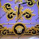 Часы для дома ручной работы. Часы настенные стеклянные Версаче Королевские. Элеонора Саунина (Ella-handmade). Ярмарка Мастеров. Сиреневый