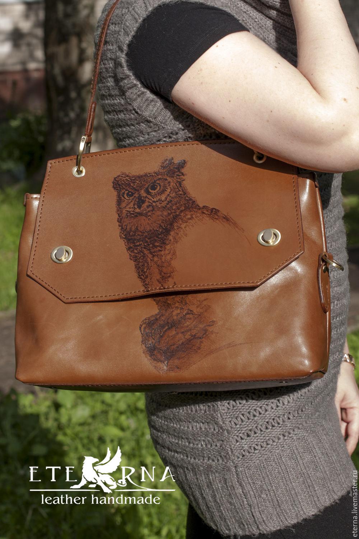 Сумка женская ручной работы из натуральной кожи, Классическая сумка, Санкт-Петербург,  Фото №1