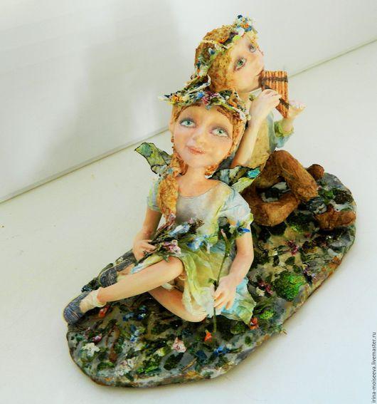 Коллекционные куклы ручной работы. Ярмарка Мастеров - ручная работа. Купить Рапсодия весеннего ветерка. Handmade. Голубой, подарок девушке