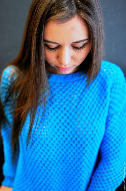 """Кофты и свитера ручной работы. Ярмарка Мастеров - ручная работа. Купить Кофта """"Отпуск"""". Handmade. Голубой, летняя одежда"""