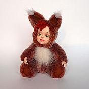 Куклы и игрушки ручной работы. Ярмарка Мастеров - ручная работа Тедди-долл Белочка. Белка.Интерьерная игрушка кукла.. Handmade.