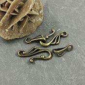 Материалы для творчества handmade. Livemaster - original item locking clasp to jewelry toggle bronze (art. 907-2). Handmade.