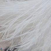 Материалы для творчества handmade. Livemaster - original item Ostrich feather on the ribbon