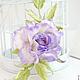 """Броши ручной работы. Роза """"Profumo di lilla"""". Натуральный шелк.. 'Poli-Flower'   (Надежда). Интернет-магазин Ярмарка Мастеров."""