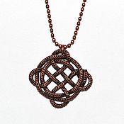 Украшения handmade. Livemaster - original item Celtic knot - pendant from the wire in the Wire wrap technique. Handmade.