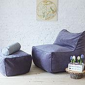 Пуфы и пуфики ручной работы. Ярмарка Мастеров - ручная работа Кресло с пуфом из велюра. Handmade.