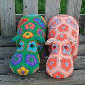 Stuffed Toys handmade. Livemaster - original item Hippo Peach. Handmade.