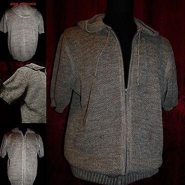 Одежда ручной работы. Ярмарка Мастеров - ручная работа Связано из тонкого льна .Толстовка. Handmade.