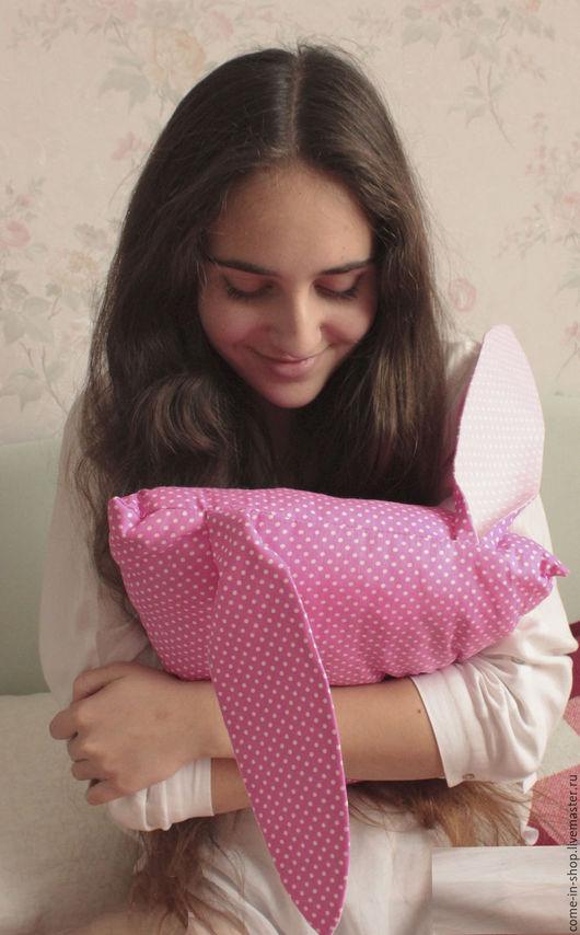 Детская ручной работы. Ярмарка Мастеров - ручная работа. Купить Подушка с ушками. Handmade. Розовый, детская комната, зайцевое помешательство