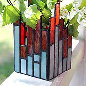 Для дома и интерьера handmade. Livemaster - original item The city. Stained glass candle holder. Handmade.