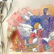 """Картины и панно ручной работы. Ярмарка Мастеров - ручная работа """"Сказка на ночь"""". Handmade."""