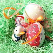 Подарки к праздникам ручной работы. Ярмарка Мастеров - ручная работа Пасхальные яйца, набор из 3 шт.. Handmade.