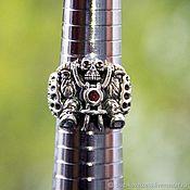 """Украшения handmade. Livemaster - original item Ring """"Biker"""" of silver 925 with zircons. Handmade."""