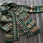 Одежда ручной работы. Ярмарка Мастеров - ручная работа Леприкон. Вязаное пальто с капюшоном.. Handmade.