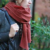 Аксессуары handmade. Livemaster - original item Warm wool scarf