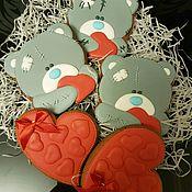 Мягкие игрушки ручной работы. Ярмарка Мастеров - ручная работа Мишка с сердечком. Handmade.