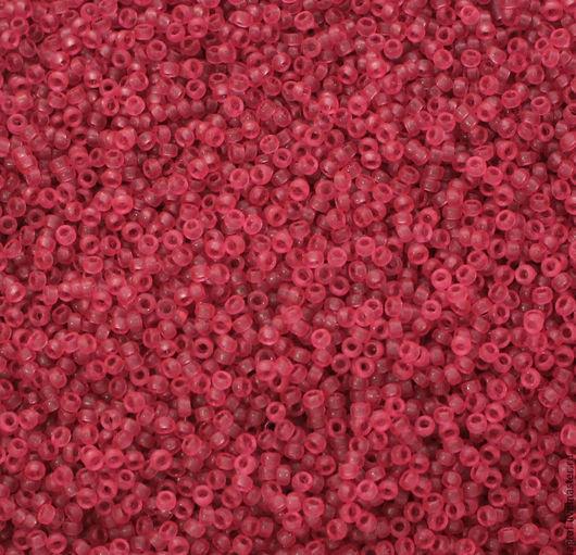Для украшений ручной работы. Ярмарка Мастеров - ручная работа. Купить Круглый 15/0 Miyuki 1606 Dyed Semi-matte Tr Rose  японский бисер Миюки. Handmade.