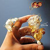 Украшения handmade. Livemaster - original item Collectible brooch iris, woman gift, art decoration.. Handmade.