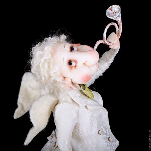 Коллекционные куклы ручной работы. Ярмарка Мастеров - ручная работа. Купить Танцующий ангел. Handmade. Белый, счастье, шёлк натуральный