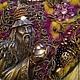 """Колье, бусы ручной работы. Ярмарка Мастеров - ручная работа. Купить Колье-коллаж """"Красота волшебства"""". Handmade. Фиолетовый, бронзовый"""