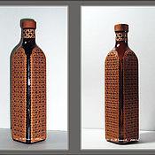 Сувениры и подарки ручной работы. Ярмарка Мастеров - ручная работа Бутылка в бересте. Handmade.