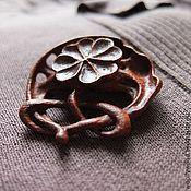 Украшения handmade. Livemaster - original item Brooch Lucky clover. Handmade.