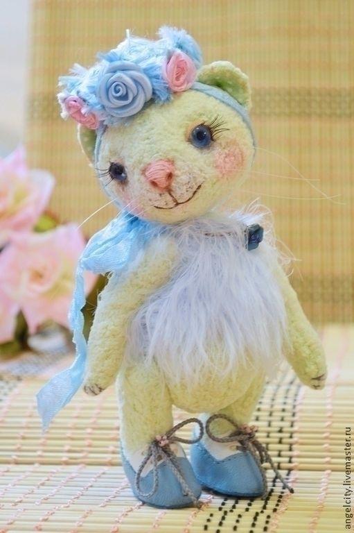 Мишки Тедди ручной работы. Ярмарка Мастеров - ручная работа. Купить Мятная кошечка Незабудка (арома-серия). Handmade. Мятный