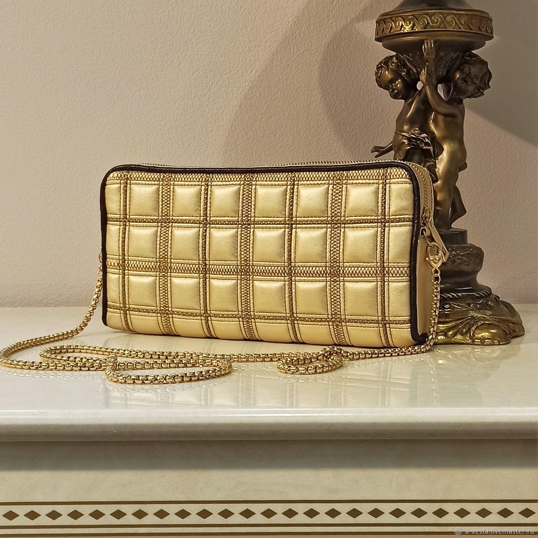 Gold clutch, Gold evening bag, evening clutch (89), Clutches, Saratov,  Фото №1