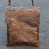 Сумки и аксессуары handmade. Livemaster - original item Bag-tablet for documents leather Kroko unisex. Handmade.