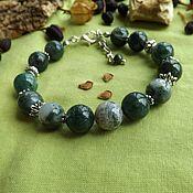 Украшения handmade. Livemaster - original item Bracelet with moss agate. Handmade.