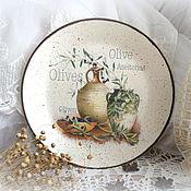 Картины и панно ручной работы. Ярмарка Мастеров - ручная работа декоративная тарелка на стену в стиле прованс. Handmade.