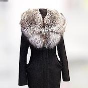 Пальто ручной работы. Ярмарка Мастеров - ручная работа Пальто зимнее с меховым вортником из лисы. Handmade.