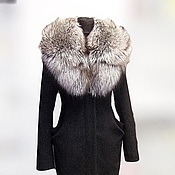 Coats handmade. Livemaster - original item Winter coat with fur collar Fox. Handmade.